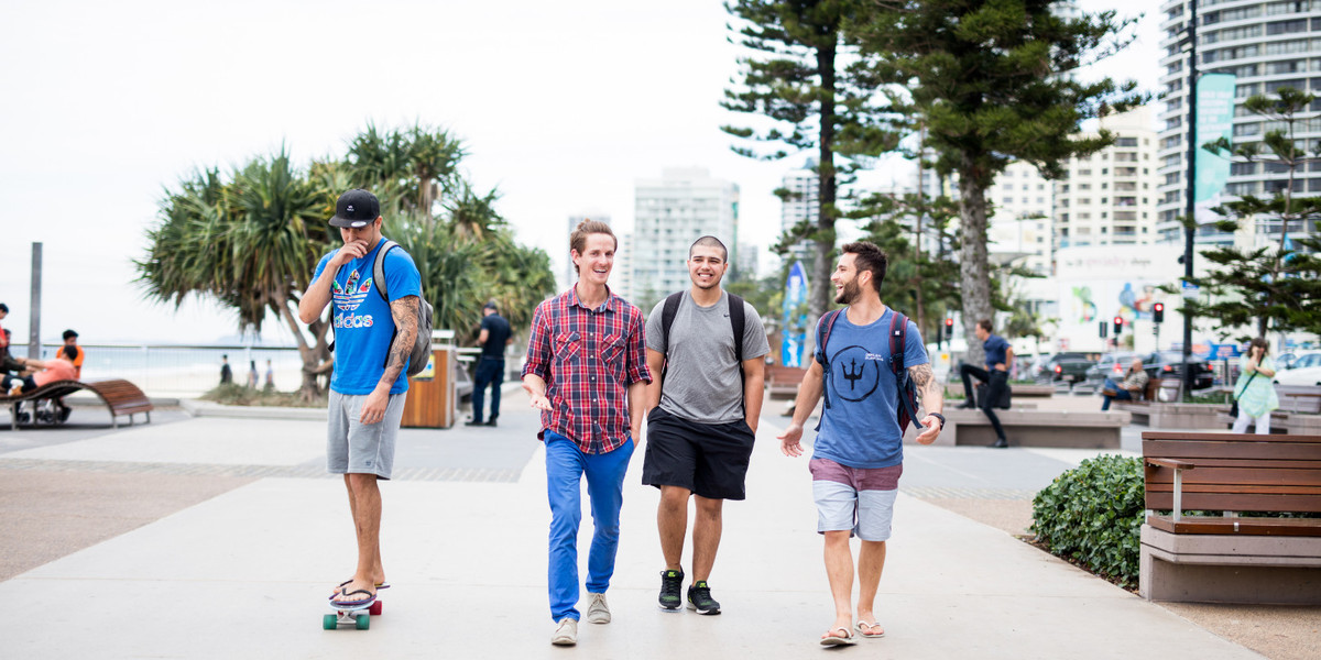students down by the beach at Surfers Paradise_ Gold Coast.17